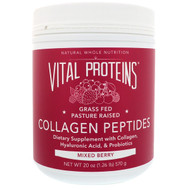 Vital Proteins, Collagen Peptides, Mixed Berry, 20 oz (570 g)