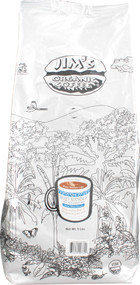 Jims Organic Coffee, Medium Light Roast Decaffeinated Whole Bean,  Sweet Nothing - 5 lbs