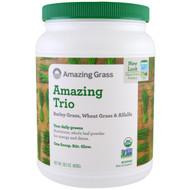 Amazing Grass, Amazing Trio, Barley Grass & Wheat Grass & Alfalfa, 1.8 lbs (800 g)