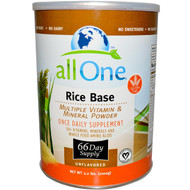 All One (Nutritech), Rice Base, Multiple Vitamin & Mineral Powder, Unflavored, 2.2 lbs (1000 g)