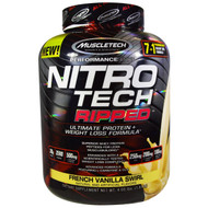 Muscletech, Nitro Tech, Ripped, Ultimate Protein + Weight Loss Formula, French Vanilla Swirl, 4.00 lbs (1.81