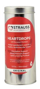 Strauss Herb Company Heartdrops with European Mistletoe Original - 3.4 fl oz
