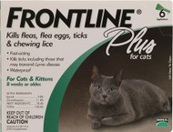 Frontline Plus, for Cats - 6 Tubes