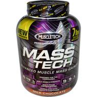 Muscletech, Mass-Tech, Scientifically Superior Mass Gainer, Milk Chocolate, 7.00 lbs (3.18