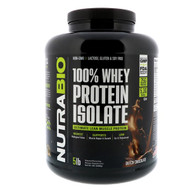 NutraBio Labs, 100% Whey Protein Isolate, Dutch Chocolate, 5 lbs (2268 g)