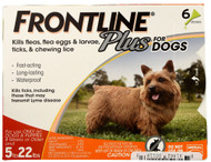 Frontline Plus, for Dogs 5-22 lbs - 6 Tubes