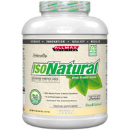 ALLMAX Nutrition, IsoNatural, 100% Ultra-Pure Natural Whey Protein Isolate, Vanilla, 5 lbs (2.27