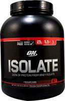 Optimum Nutrition Isolate 100% Whey Protein Isolate Chocolate Shake -- 5.02 lbs