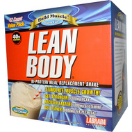 Labrada Lean Body Hi-Protein Meal Replacement Shake Vanilla Ice Cream - 42 Packets