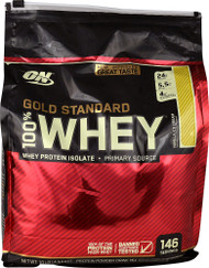 Optimum Nutrition Gold Standard 100% Whey Protein Isolate Vanilla Ice Cream - 10 lbs