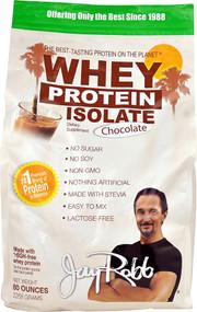 Jay Robb Whey Protein Isolate Chocolate -- 80 oz