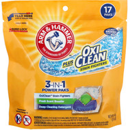 3 PACK OF Arm & Hammer, Plus OxiClean 3-IN-1 Power Paks Laundry Detergent, Fresh Scent, 17 Paks