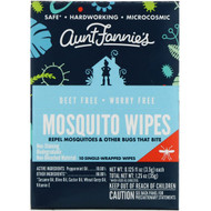 Aunt Fannies Mosquito Wipes -- 10 Wipes