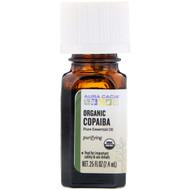 3 PACK OF Aura Cacia, Pure Essential Oil, Organic Copaiba, .25 fl oz (7.4 ml)