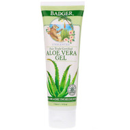 3 PACK OF Badger Company, Aloe Vera Gel, Unscented, 4 fl oz (118 ml)
