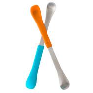 3 PACK OF Boon, Swap, 2-in-1 Feeding Spoon, 4+ Months, Blue & Orange, 2 Spoons
