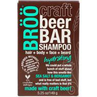 3 PACK OF BRoo, Craft Beer Bar Shampoo, Hydrating, Sea Salt & Bergamot, 5.25 oz (149 g)