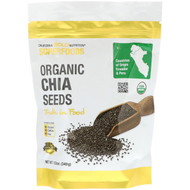 3 PACK OF California Gold Nutrition, Superfoods, Organic Chia Seeds, 12 oz (340 g)