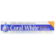 3 PACK OF CORAL , Coral White Toothpaste, Tea Tree, 6 oz (170 g)