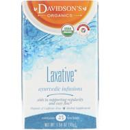 3 PACK OF Davidsons Tea, Organic, Ayurvedic Infusions, Laxative, 25 Tea Bags, 1.58 oz (45 g)