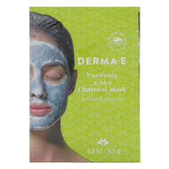 3 PACK OF Derma E, Purifying 2-in-1 Charcoal Mask, 0.3 oz (8.5 g)