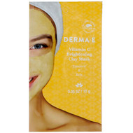 3 PACK OF Derma E, Vitamin C Brightening Clay Mask, Turmeric & Kale, 0.35 oz (10 g)