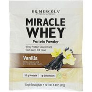 3 PACK OF Dr. Mercola, Miracle Whey Protein Powder, Vanilla, 1.4 oz (40 g)