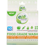 3 PACK OF Eat Cleaner, Food Grade Wash, All Natural Powder, 10 Packets, 3.2 oz (90.72 g)