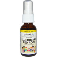 3 PACK OF Eclectic Institute, Herbs For Kids, Throat Spray, Elderberry Red Root, 1 fl oz (30 ml)