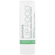 3 PACK OF Eco Lips Inc., Lip Food, Nourish, Nutrient-Dense Organic Lip Balm, Lemon, .15 oz (4.25 g)