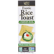 3 PACK OF Edward & Sons, Exotic Rice Toast, Whole Grain Squares, Jasmine Rice & Spring Onion, 2.25 oz (65 g)