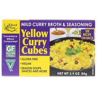 3 PACK OF Edward & Sons, Yellow Curry Cubes, 2.9 oz (84 g)
