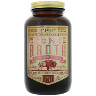 3 PACK OF Epic Bar, Artisanal Bone Broth, Bison Apple Cider, 14 fl oz (414 ml)