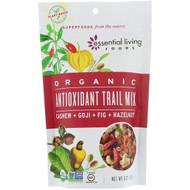 3 PACK OF Essential Living Foods, Organic, Antioxidant Trail Mix, Cashew + Goji + Fig + Hazelnut, 6 oz (170 g)
