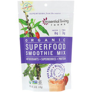 3 PACK OF Essential Living Foods, Organic, Superfood Smoothie Mix, Antioxidants + Superberries + Protein, 6 oz (170 g)