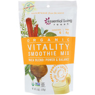 3 PACK OF Essential Living Foods, Organic, Vitality Smoothie Mix, Maca Blend, Power & Balance, 6 oz (170 g)