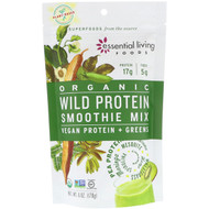 3 PACK OF Essential Living Foods, Organic, Wild Protein Smoothie Mix, Vegan Protein + Greens, 6 oz (170 g)