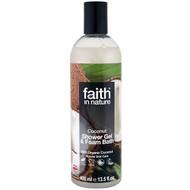Faith in Nature, Shower Gel & Foam Bath, Coconut, 13.5 fl oz (400 ml)