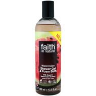 3 PACK OF Faith in Nature, Shower Gel & Foam Bath, Watermelon, 13.5 fl oz (400 ml)