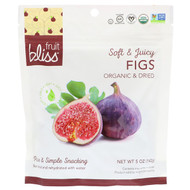 3 PACK OF Fruit Bliss,  Soft & Juicy Figs, Organic & Dried, 5 oz (142 g)