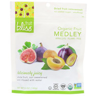 3 PACK OF Fruit Bliss, Organic Fruit Medley, Apricots, Plums and Figs, 5 oz (142 g)