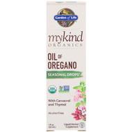 3 PACK OF Garden of Life, MyKind Organics, Oil of Oregano, Seasonal Drops, 1 fl oz (30 mL)