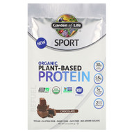 3 PACK OF Garden of Life, Sport, Organic Plant-Based Protein, Refuel, Chocolate, Trial Size, 1.6 oz (44 g)