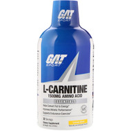 3 PACK OF GAT, L-Carnitine, Amino Acid, Lemon Blast, 1500 mg, 16 oz (473 ml)