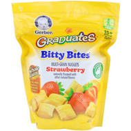 3 PACK OF Gerber, Graduates, Bitty Bites, Toddler, 15+ Months, Strawberry, 2.50 oz (71 g)