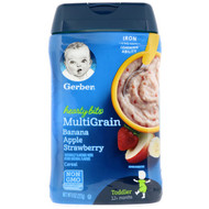 3 PACK OF Gerber, Hearty Bits, MultiGrain Cereal, Toddler, 12+ Months, Banana, Apple, Strawberry, 8 oz (227 g)