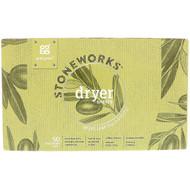 3 PACK OF Grab Green, Stoneworks, Dryer Sheets, Olive Leaf, 50 Compostable Sheets