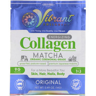 3 PACK OF Green Foods Corporation, Vibrant Collagens, Energizing Collagen Matcha, Original,  0.49 oz (14 g)