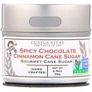 3 PACK OF Gustus Vitae, Cane Sugar, Spicy Chocolate Cinnamon, 2.5 oz (70 g)