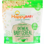 3 PACK OF Happy Family Organics, Organic, Clearly Crafted, Oatmeal Baby Cereal, 7 oz (198 g)